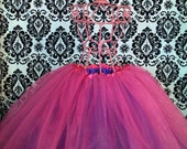 REVERSIBLE Purple and Hot Pink Tutu fits 6 months-9 years old baby or girl READY to SHIP