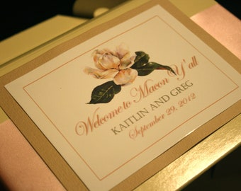 Unique Wedding Welcome Boxes for OOT Hotel Guests - Antique Soft Flower Design