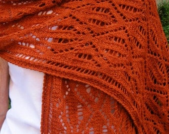 Knit Wrap Pattern:  Viennese Lace Shawl Knitting Pattern