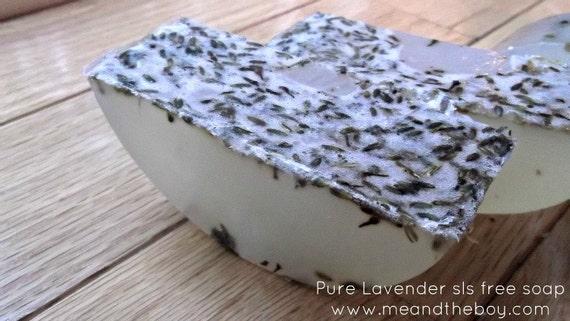 Vegan Lavender Soap -  sls free soap-  6-7 oz -  UNDYED