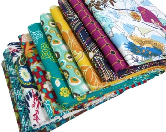 INDIE - Art Gallery Fabrics - FAT QUARTER Bundle - Midnight Temple 10 pcs