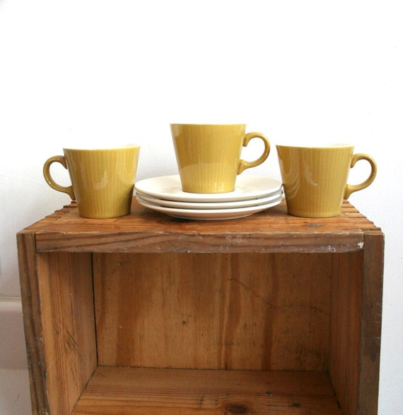 Gold and White Cups and Saucers (3) - Sheffield Serenade Collection