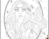 Fairy Download - Fairy Digi Stamp - Fairy Art - Outline Art - Adult Coloring Page - Coloring Page - Digital Stamp - Fairy Coloring Page