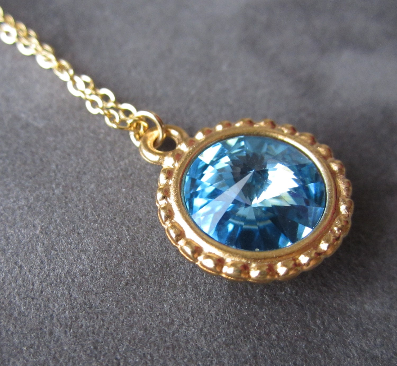 march birthstone necklace gold crystal aquamarine jewelry. Black Bedroom Furniture Sets. Home Design Ideas