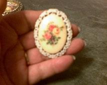 1970 flower broch pin