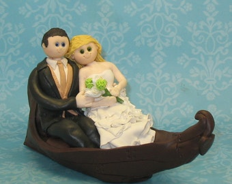 Custom Wedding Cake Topper with Boat