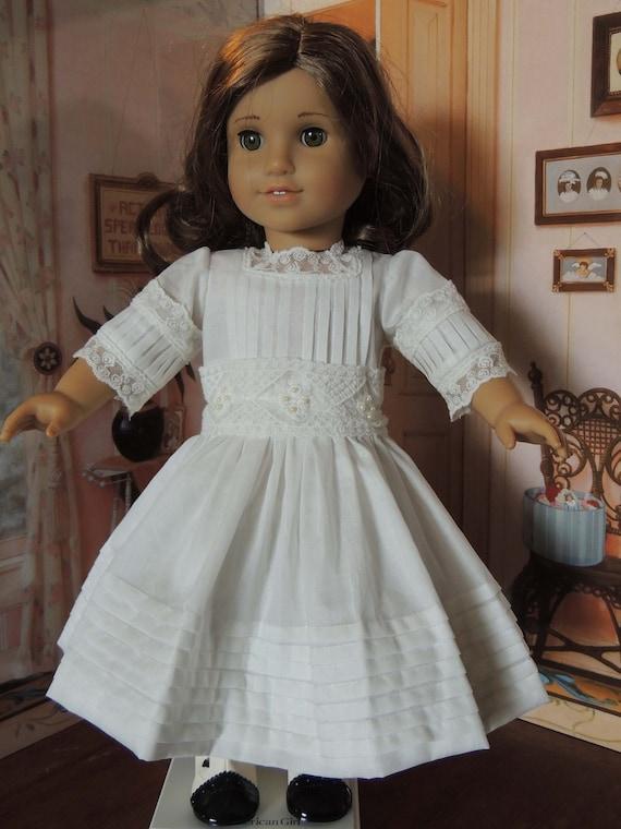 Ivory Batiste Heirloom Vintage American Girl Dress