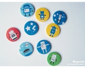 9 Magnets in a Set ROBOTS by Maedchenwahn