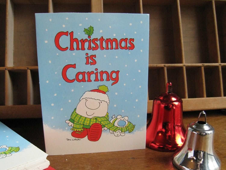 Vintage 80s Christmas Cards Ziggy Cartoon