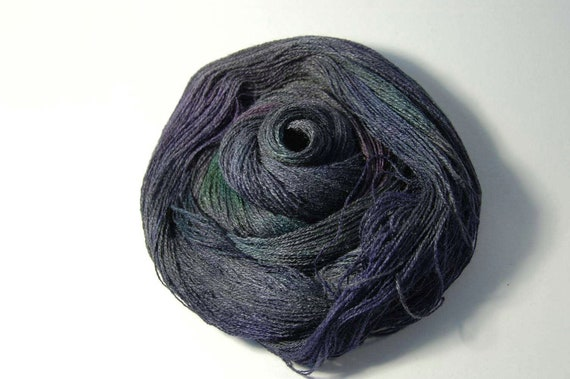 Tussah Silk LACE in Night Violet
