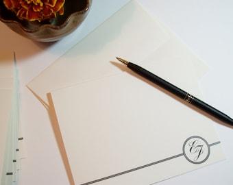 Custom Monogram Wedding Monogram Thank You Notes Note Cards card notecards notecard