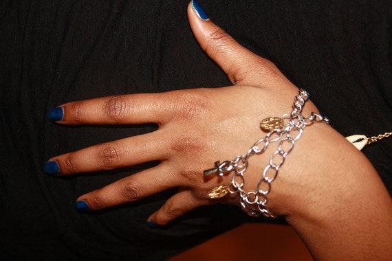 Unisex Gold & Silver Hand Chain