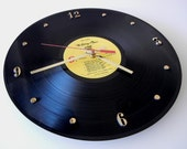 THE ROLLING STONES Vinyl Record Wall Clock (Love You Live)
