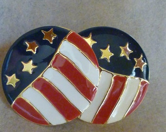 Red, white & Blue Earrings, American Flag, PATRIOTIC
