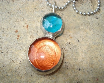 Recycled Glass Bauble Jewlery Free US Shipping