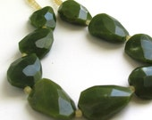 Faceted Dark Jade Statement Necklace - Mint Leaves