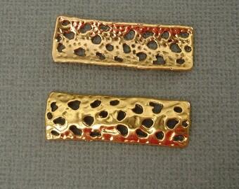 6pcs-Pendant, Charm Connector Link  Antique Gold 11x32mm.