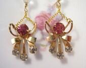 Reclaimed Vintage Earrings, Vintage Rhinestone Earrings, Bridesmaid Gift, Wedding Earrings, Under 30 - Swing Time