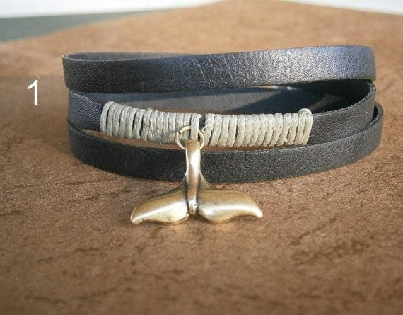 whale bracelet leather bracelet wrap bracelet whale man bracelet friendship bracelet mermaid jewelry starfish bracelet nautical bracelet