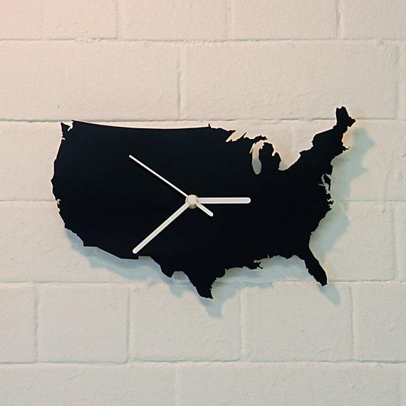 U.S.A. clock (Black)