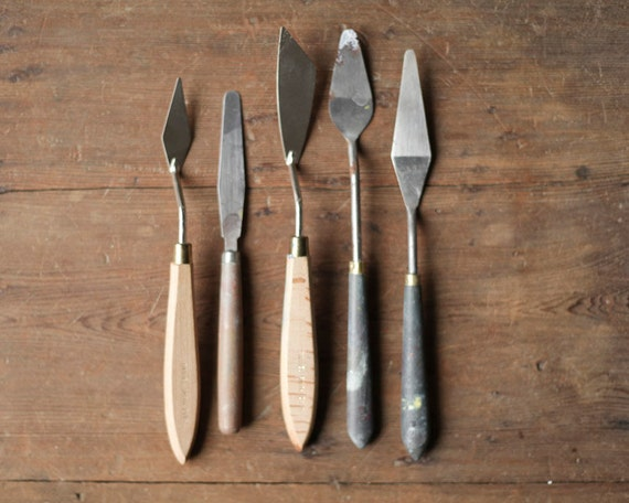 Painter's Palette Knives - Wood Handled Artist's Impasto Painting Spades, Tools