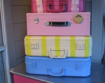 Vintage suitcases stack only 2 left here on this listing