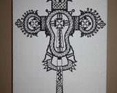 Lalibela Cross   Digital Print Limited 50count