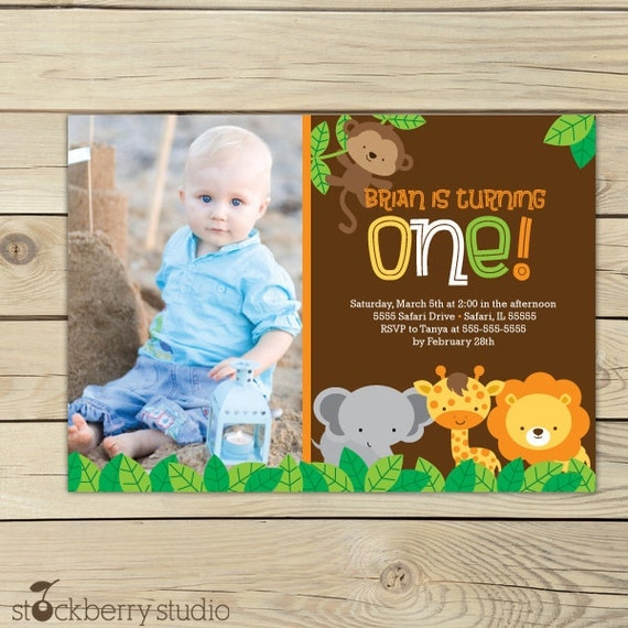 Jungle Birthday Invitation Printable Jungle Party Safari