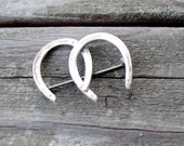 Sterling Horseshoes Stock Pin