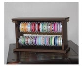 WALL MOUNTABLE Ribbon Organizer Rack - holds 50 spools - choose your paint color
