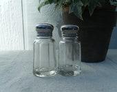 Slightly Mismatched Glass Salt & Pepper Shakers