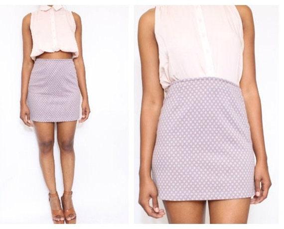 Vtg High waist Mini Skirt size M 5/6