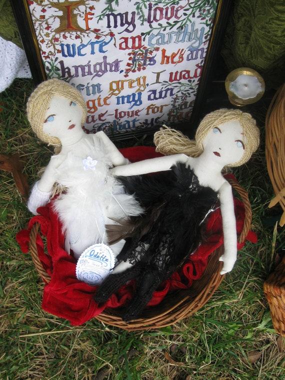 "Odette from Swan Lake ""White Swan"" Rag Doll"