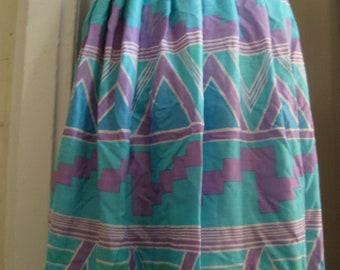 "azteca """" vintage pastel maxi skirt """" ON SALE"