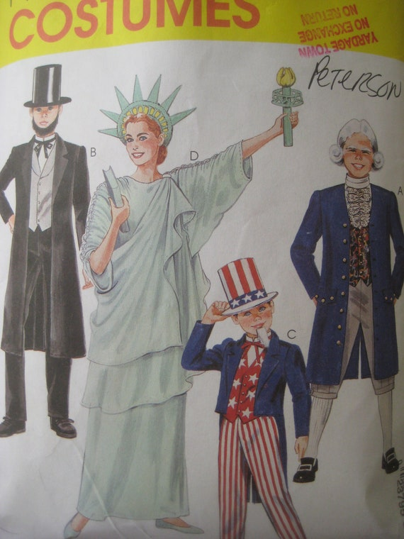 Sewing pattern of adult statue of liberty