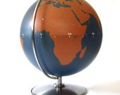 RESERVED Vintage World Globe Industrial Military Chalkboard Project Nystrom