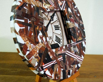 Brown Recycled Magazine Frame - Round Brown Frame Made from Recycled Magazines