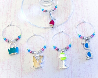 Fashion Wine Charms - Set of 5 Fashionable Women's Accessories Wine Glass Charms