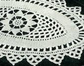 Vintage 1940s Oblong Crocheted Doily -- PDF CROCHET PATTERN