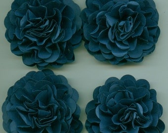 Navy Blue Carnation Paper Flowers