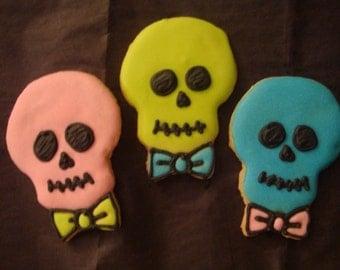1 DZ Retro Neon Skull Vanilla Sugar Cookie