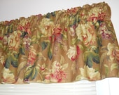 Rose Floral Linen valance Mill Creek