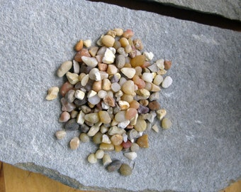 "Terrarium Pebbles - ""Coral Mix"" - 1/4"" - DIY terrarium accent, Terrarium Supplies, Decorative Pebbles for Terrariums and Fairy Gardens"