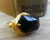 Classic Emerald Cut Ring - Gold