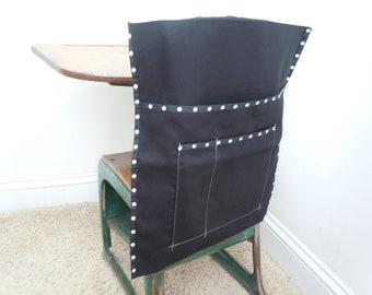 Basic Seat Sack - Black Twill Fabric