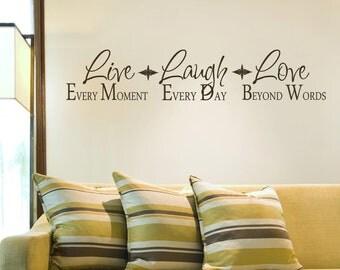 Live  Laugh Love-Vinyl Lettering wall words graphics Home decor itswritteninvinyl