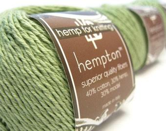 Hemp Cotton Yarn, Sage Green DK Weight 130yd Hemp/Cotton/Modal Blend