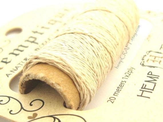 Thin Hemp Thread, Natural o.2mm Hemp Cord