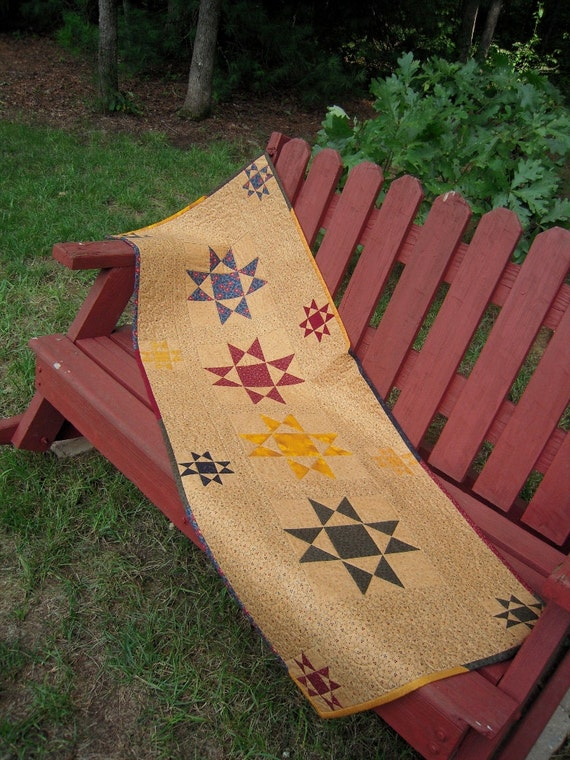 RESERVED FOR JANET-Quilted Table Runner, Patchwork Table Runner, Ohio Stars