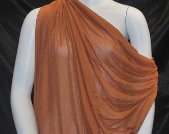 Micro Modal Silk Sheer Jersey Rust 10 yards Cut